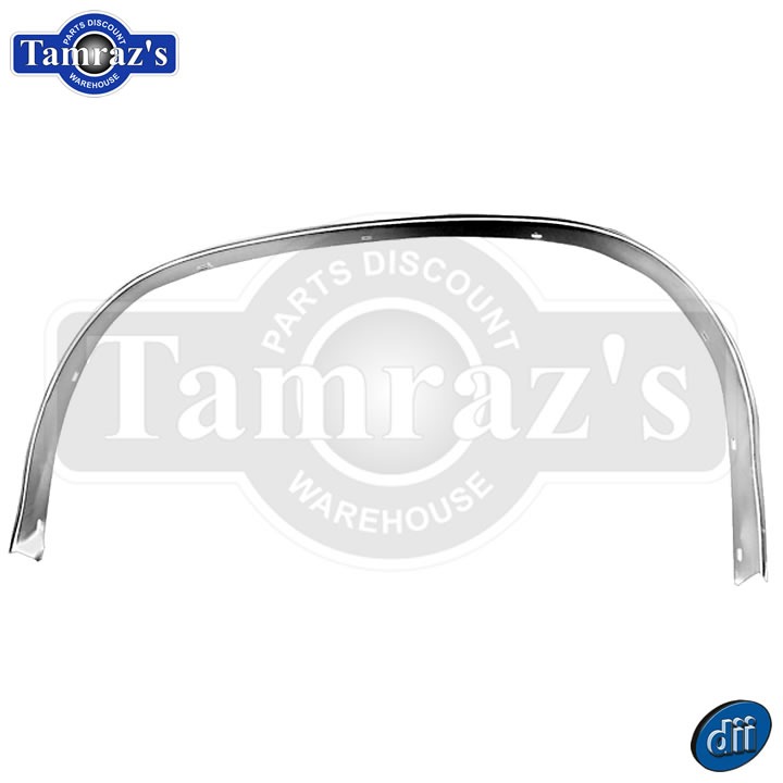 RH New 1970-72 Chevrolet Chevelle Front Wheel Well Opening Molding