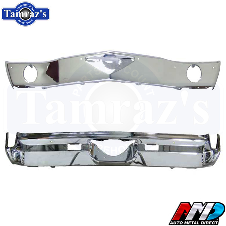 1969 Camaro Chrome Front /& Rear Bumper Kit Triple Chrome New Tooling by AMD