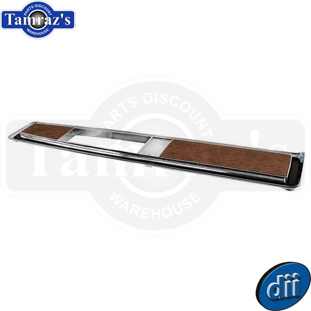 70 71 72 Chevy Monte Carlo Console Top Plate Auto Transmission Burlwood Hardware