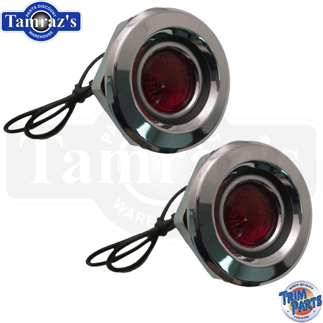 FLAT STYLE Fits 1968 Dodge Plymouth Chrysler Red Side Marker Light