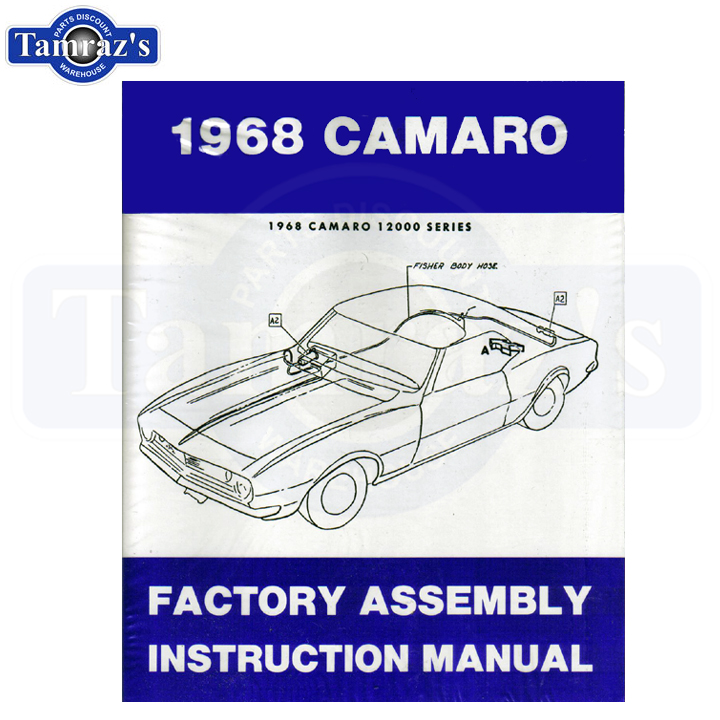 1968 Camaro Factory Assembly Manual Bound Type New