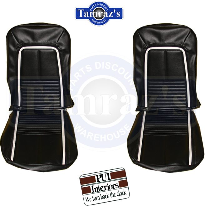 1967 camaro deluxe front seat covers upholstery pui ebay. Black Bedroom Furniture Sets. Home Design Ideas