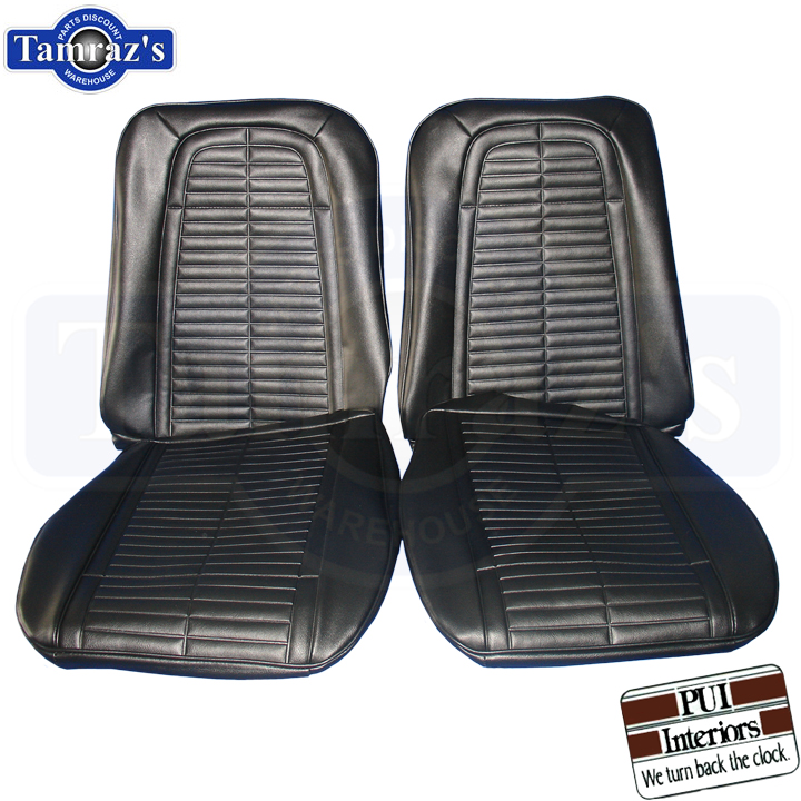 1967 1968 firebird front rear seat covers upholstery pui new ebay. Black Bedroom Furniture Sets. Home Design Ideas