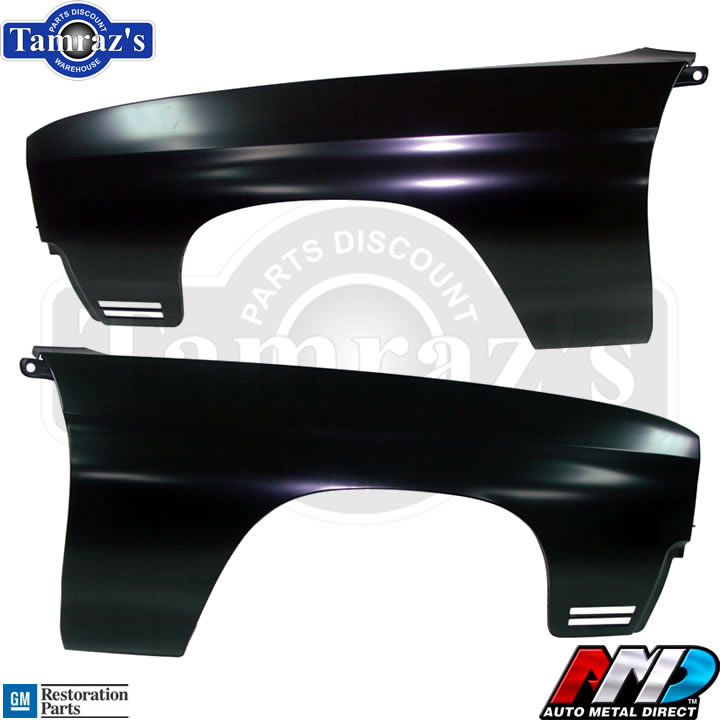 Details about 70 Chevelle Front Fender - AMD TOOLING Lic  GM Restoration  Part - PAIR