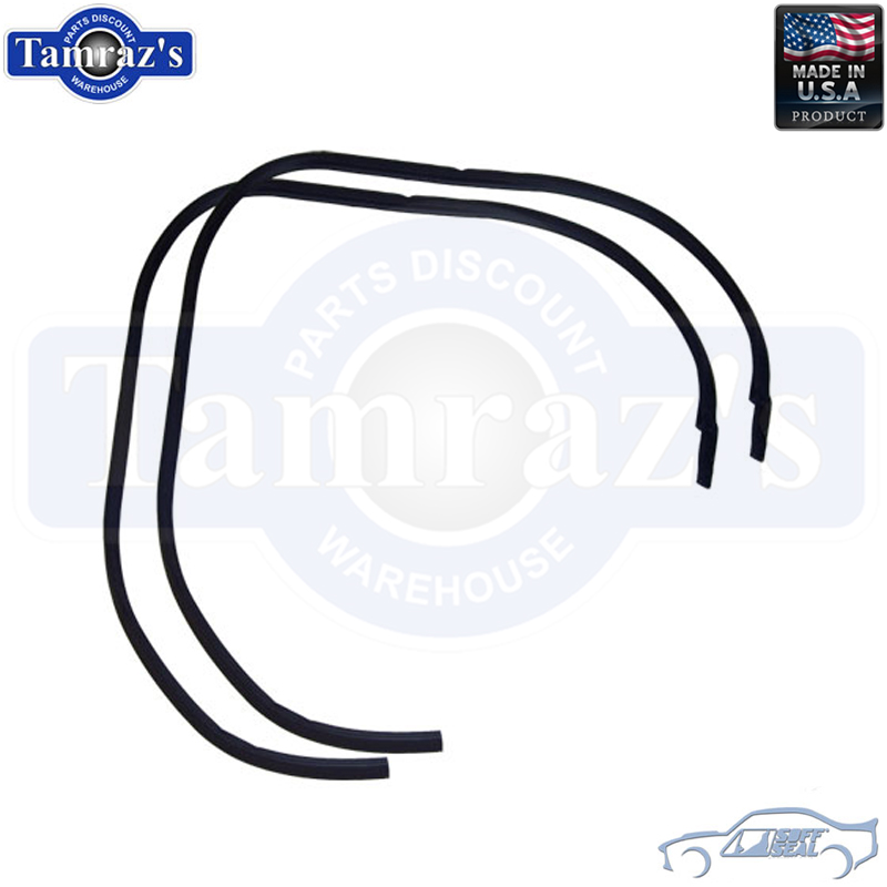 64-65 GM A Body Roof Rail RoofRail Weatherstrip Seals 2 Dr Htop RR5000 USA MADE