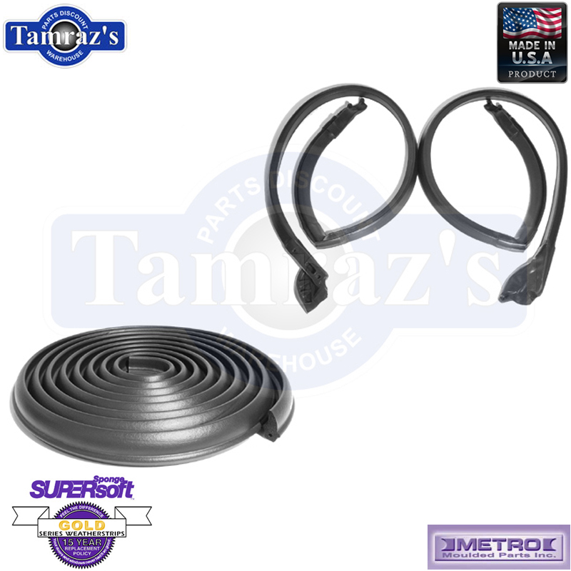 Trunk Weatherstrip Seal Rubber TK 46-E//16 for 73-77 Buick Chevy Pontiac Olds